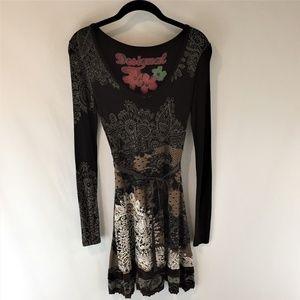 Desigual Tisdale Floral/Paisley/Lace print Dress